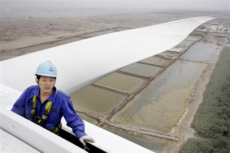 China wind turbine repair