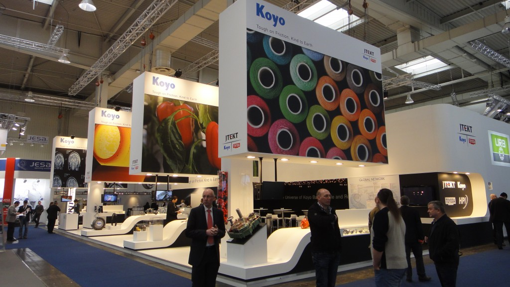 Koyo Hannover 2013b 1024x577 The Universe of Koyo Ball, Needle and Roller bearings at Hannover Messe 2013