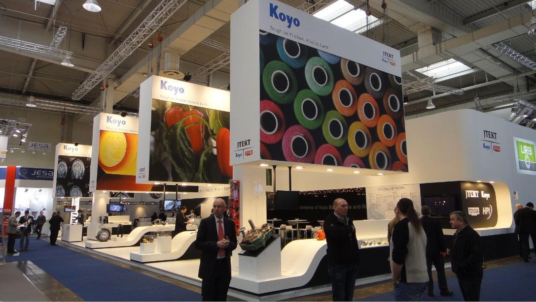 the universe of koyo ball needle and roller bearings at hannover messe 2013 bearing news. Black Bedroom Furniture Sets. Home Design Ideas
